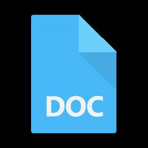 Icon representing a DOC file