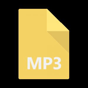 Icon representing an MP3 file