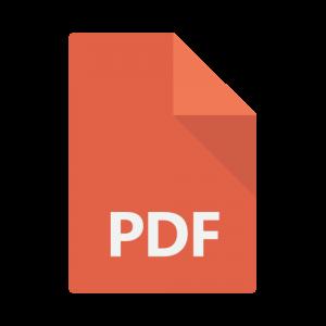 Icon representing a PDF file