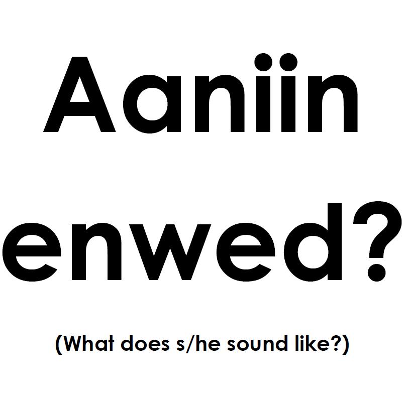 Aaniin Enwed - Sign