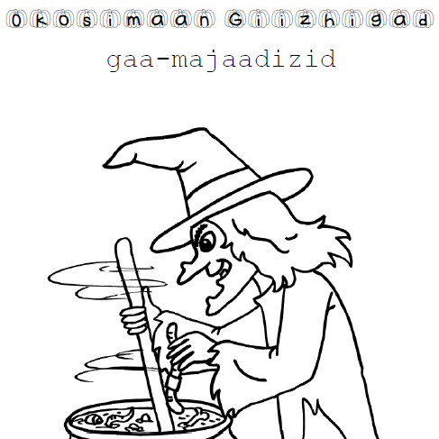 Okosimaan-giizhigad - Colouring Pages