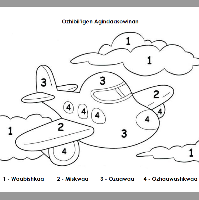 Ozhibii'igen Agindaasowinan - Colour by Numbers