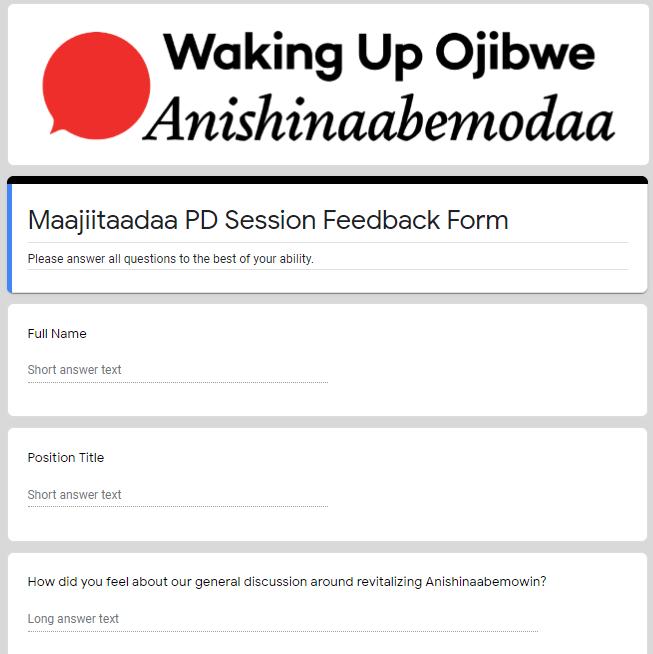 Feedback Form - Maajiitaadaa