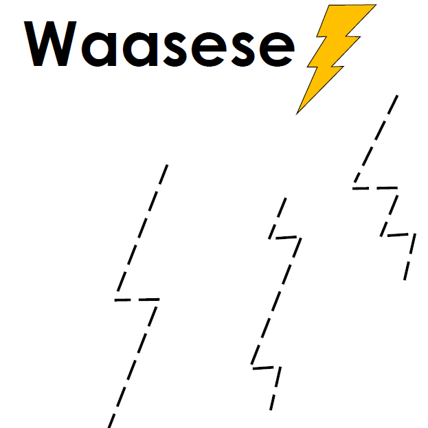 Waasese - Pipe Cleaner Tracing Printable