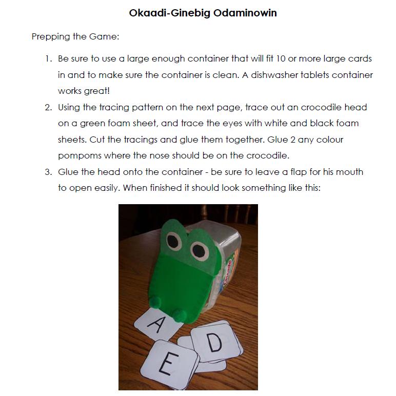 Okaadi-Ginebig Odaminowin