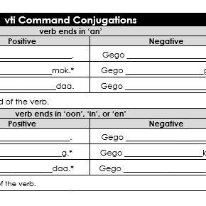 vti Command Conjugations