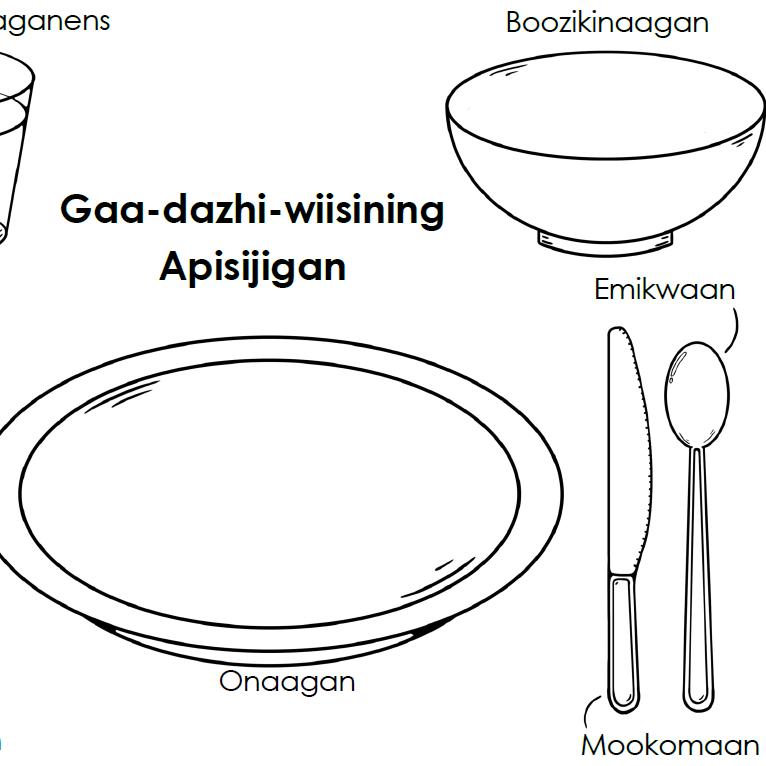 Anishinaabemowin Placemat