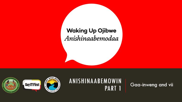 Power Point Presentation - Anishinaabemowin Part 1: Gaa-inweng and vii