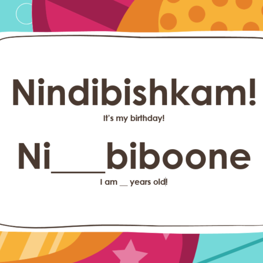 Nindibishkam! - It's my Birthday Sign