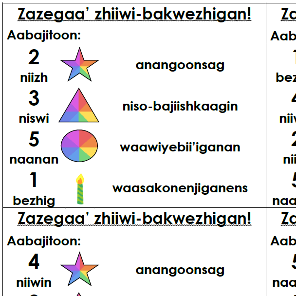 Zazegaa' zhiiwi-bakwezhigan! - Decorate the cake! Activity