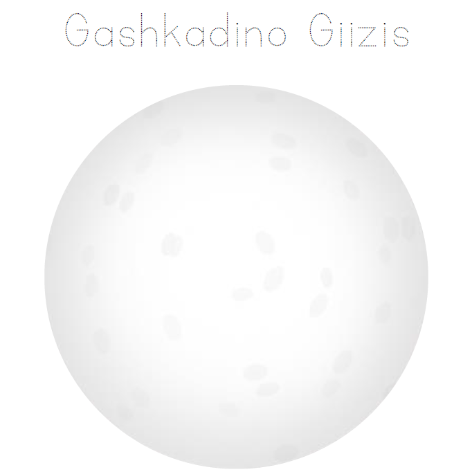 Dibiki-giizis - Monthly Trace & Decorate Activity