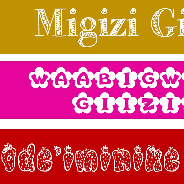 Ashi-niizho-giizisoog - Pocket Chart Size Printable Twelve Month Titles