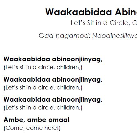 Waakaabidaa Abinoojiinhyag - Lyrics