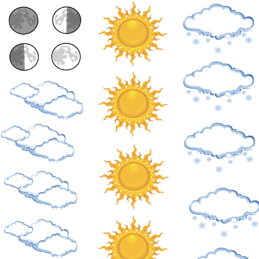 Aaniin Ezhiwebak Agwajiing? - What's the Weather Outside? - Printable Weather Items