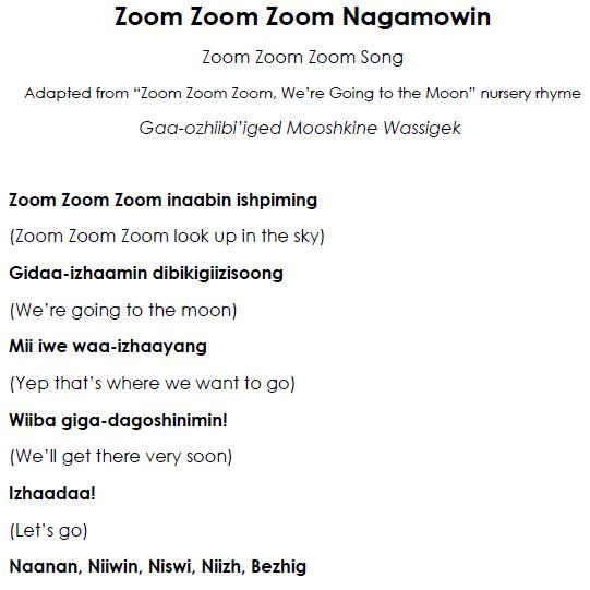 Zoom Zoom Zoom Nagamowin - Lyrics