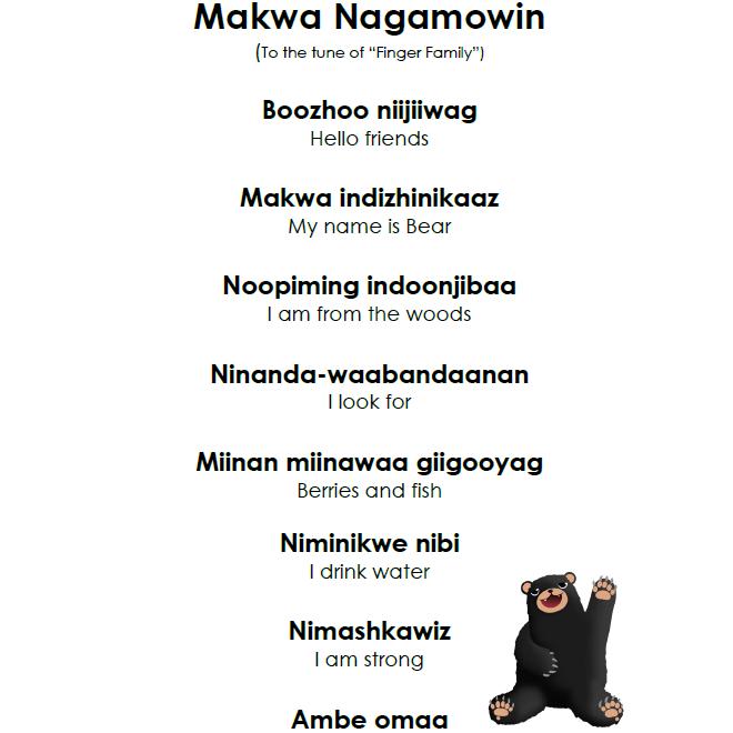 Makwa Nagamowin - Lyrics