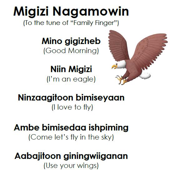 Migizi Nagamowin - Lyrics
